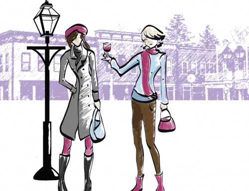 Delafield Ladies Night Out Event Illustrations