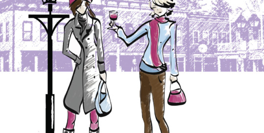 Ladies Night Out Illustrations