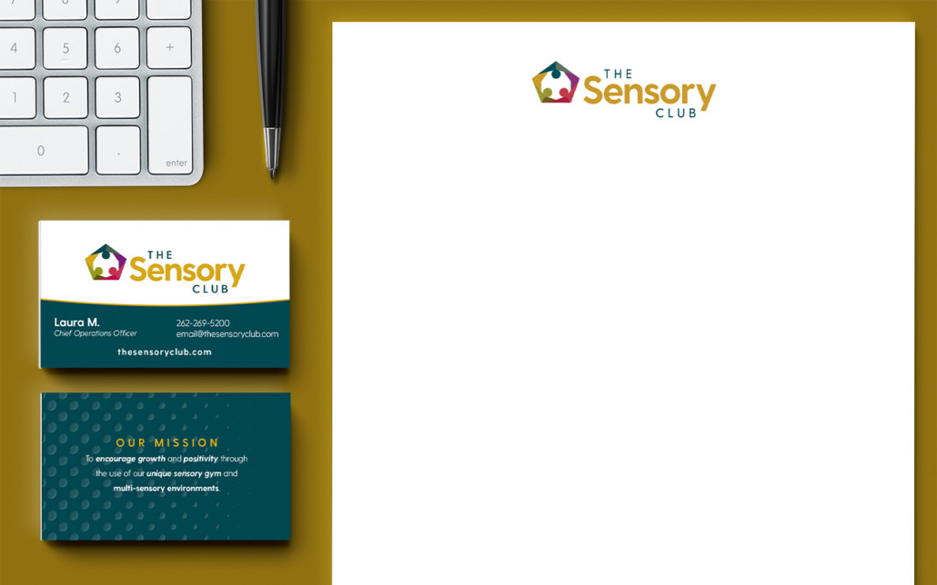 The Sensory Club Logo and Brand Stationery