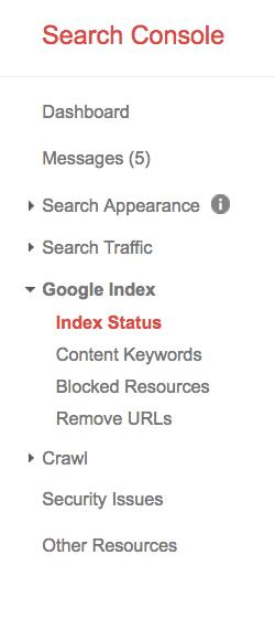 index status google search console