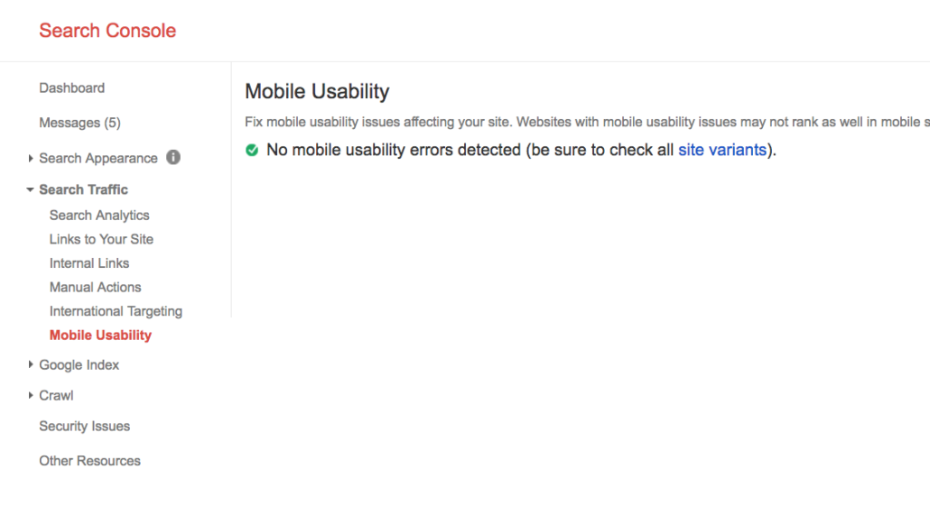 mobile usability google search console