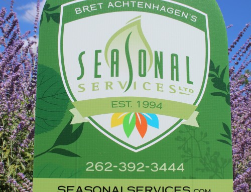 Seasonal Service Yard Sign