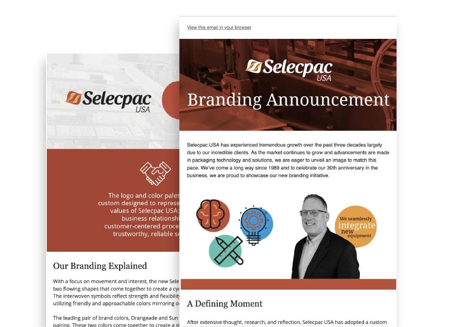 Branding Selecpac Emails