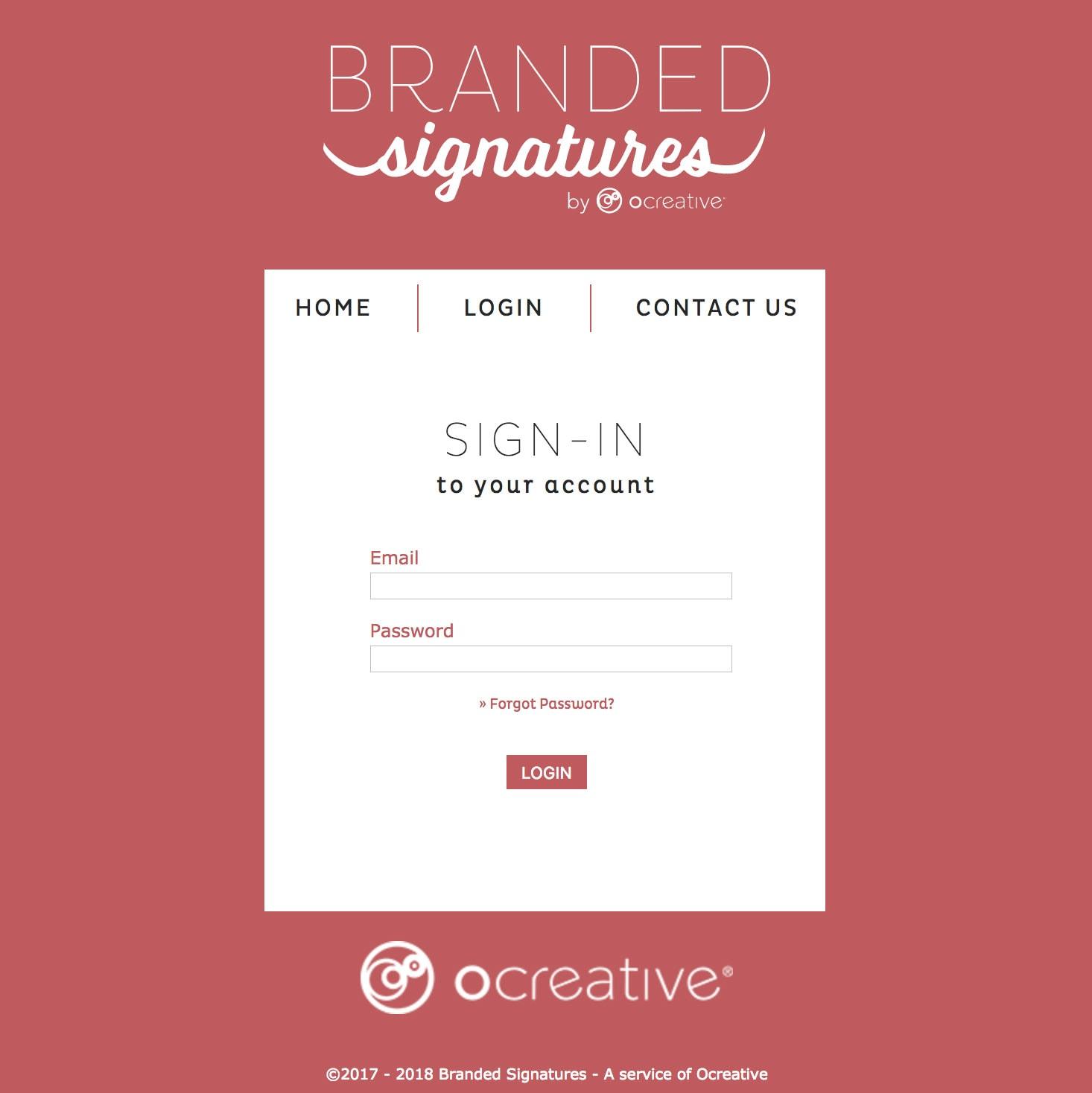 email signatures portal