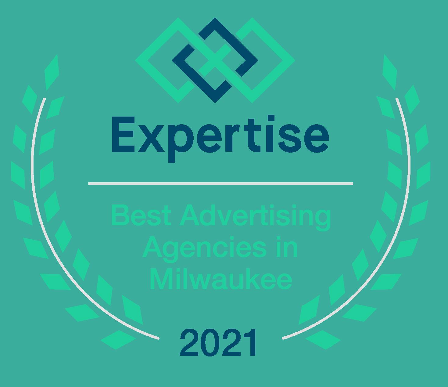 Best Advertising Agency in Milwaukee Award Badge